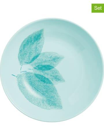 """Luminarc 6-delige set: soepborden """"Arpegio"""" turquoise - Ø 20 cm"""