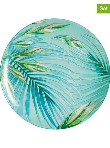 "Luminarc 6-delige set: dinerborden ""Crazifolia"" groen - Ø 26 cm"