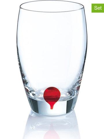 """Luminarc 4-delige set: glazen """"Drip Rouge"""" - 350 ml"""