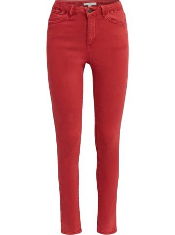 ESPRIT Dżinsy - Skinny fit - w kolorze czerwonym
