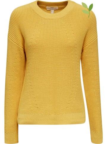 ESPRIT Sweter w kolorze żółtym