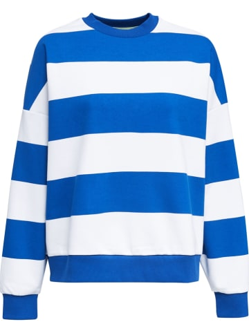 ESPRIT Bluza w kolorze niebiesko-białym