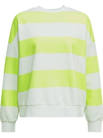 ESPRIT Bluza w kolorze żółto-białym