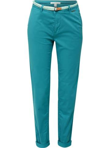 ESPRIT Spodnie chino w kolorze morskim