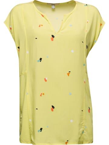 ESPRIT Bluzka w kolorze żółtym