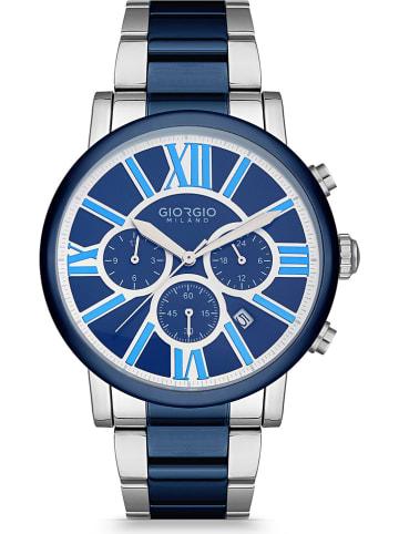 GIORGIO MILANO Chronograph in Silber-Blau