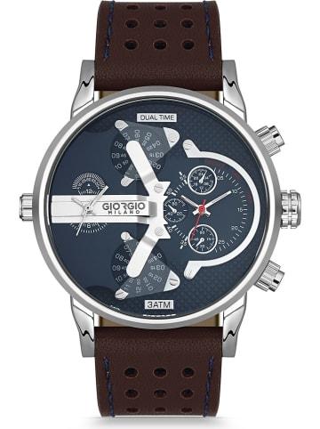 GIORGIO MILANO Chronograph in Braun/ Silber/ Blau