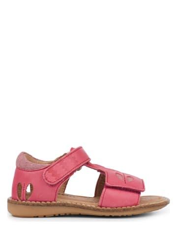 """Racoon Leren sandalen """"Amine"""" lichtrood"""