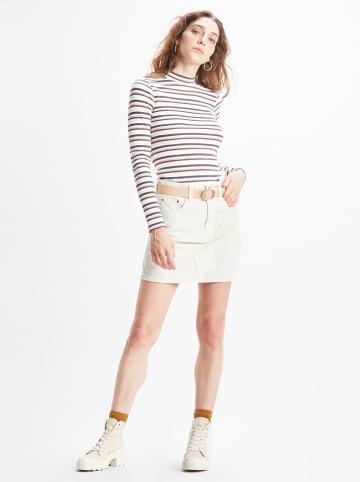 Levi´s Sztruksowa spódnica w kolorze kremowym