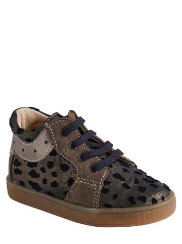 Vertbaudet Leren sneakers bruin