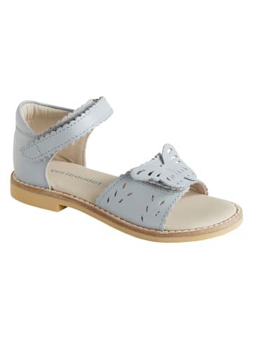Vertbaudet Skórzane sandały w kolorze błękitnym