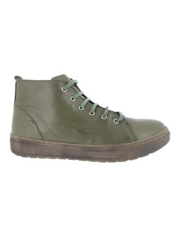 Andrea Conti Leren sneakers groen