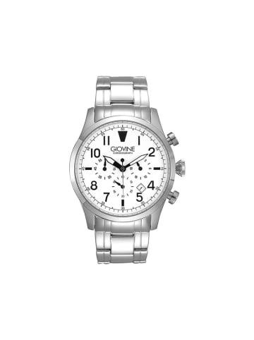 """Giovine Zegarek """"OGI001/T/MB/SS/BN"""" w kolorze srebrno-białym"""