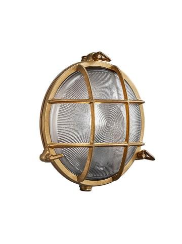 """Nordlux Lampa ścienna zewnętrzna """"Polperro"""" w kolorze brązowozłotym - Ø 19,5 cm"""