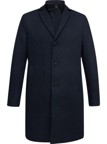 ESPRIT Wollen mantel donkerblauw