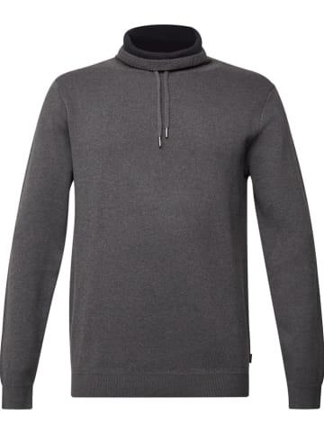 ESPRIT Sweter w kolorze antracytowym