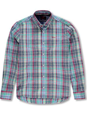 """NEW ZEALAND AUCKLAND Koszula """"Dampier"""" - Comfort fit - w kolorze niebieskim ze wzorem"""