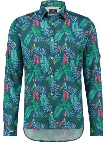 """NEW ZEALAND AUCKLAND Koszula """"Waiaruhe"""" - Comfort fit - w kolorze zielonym"""