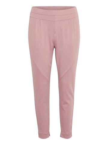"""Cream Spodnie """"Anett"""" w kolorze jasnoróżowym"""