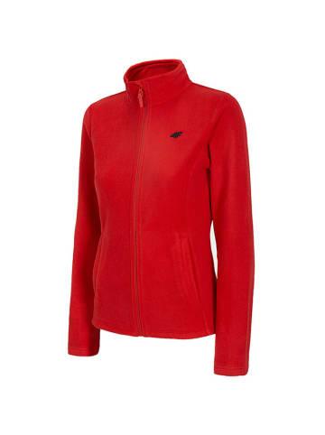 4F Bluza polarowa w kolorze czerwonym