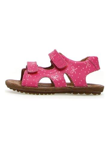 """Naturino Skórzane sandały """"Skyline"""" w kolorze różowym"""