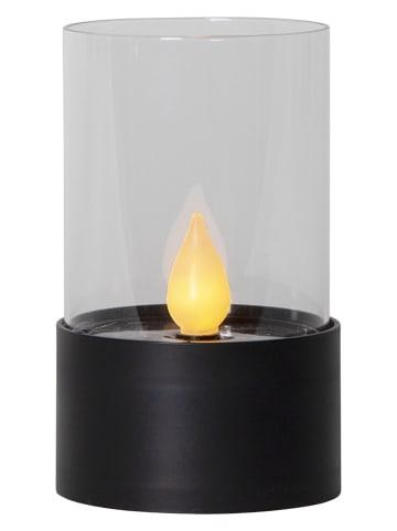 """Best Season Solarna świeca LED """"Puloun"""" w kolorze czarnym - wys. 13,5 x 8 cm"""