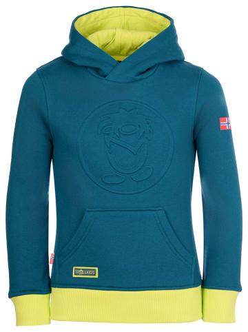 """Trollkids Sweatshirt """"Lillehammer"""" blauw"""