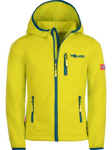 """Trollkids Fleece vest """"Stavanger"""" geel"""