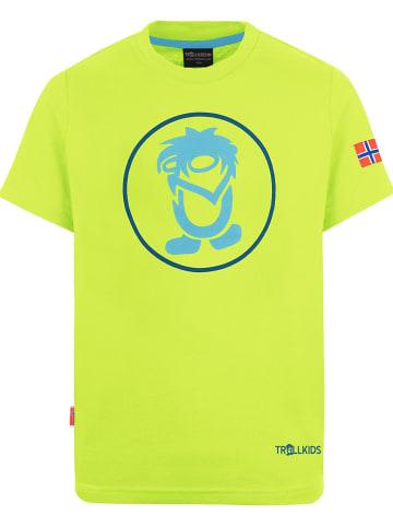 """Trollkids Koszulka funkcyjna """"Troll"""" w kolorze żółtym"""