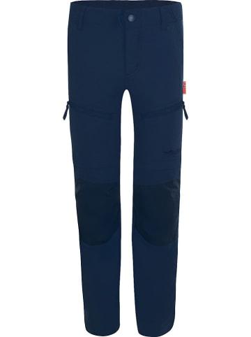 """Trollkids Spodnie trekkingowe Zipp-Off """"Nordfjord"""" - Slim fit - w kolorze granatowym"""