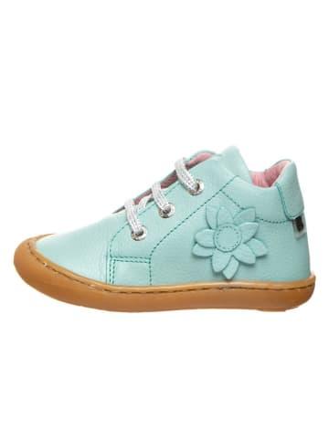 BO-BELL Skórzane sneakersy w kolorze błękitnym