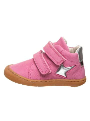 BO-BELL Skórzane sneakersy w kolorze różowym