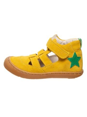 BO-BELL Skórzane półsandały w kolorze żółtym