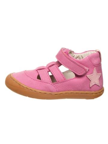 BO-BELL Skórzane półsandały w kolorze różowym