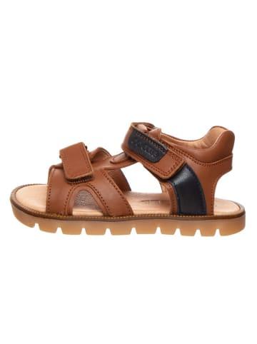 BO-BELL Skórzane sandały w kolorze brązowym