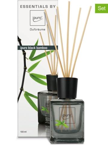 """Ipuro 2-delige set: kamergeuren """"Black bamboo"""" - 2x 100 ml"""
