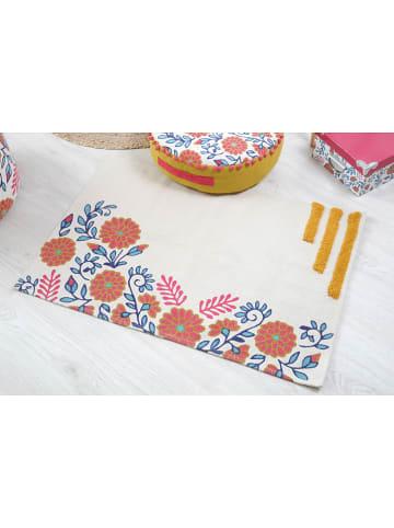 """STOF France Dywan bawełniany """"Anya"""" w kolorze kremowym ze wzorem - 90 x 60 cm"""