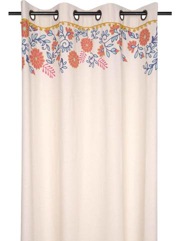 STOF France Zasłona w kolorze kremowym ze wzorem - 260 x 140 cm