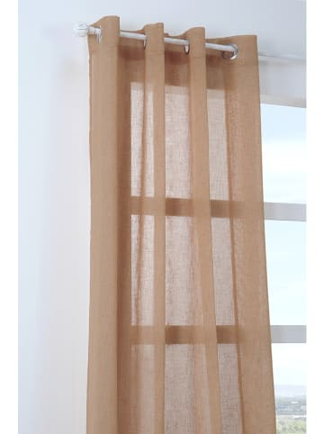 STOF France Zasłona w kolorze jasnobrązowym - 260 x 140 cm