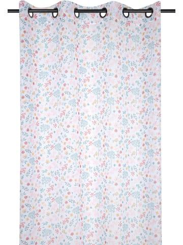 """STOF France Gordijn met ringen """"Pimprenelle"""" wit/meerkleurig - (L)260 x (B)135 cm"""