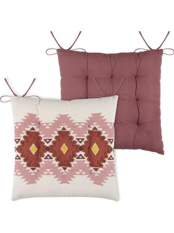 """STOF France Poduszka-siedzisko """"Puebla"""" w kolorze różowym - 40 x 40 cm"""