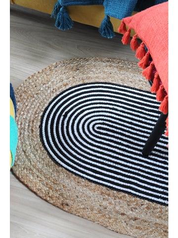 """STOF France Dywan """"Stripes"""" w kolorze niebiesko-beżowym - 90 x 60 cm"""