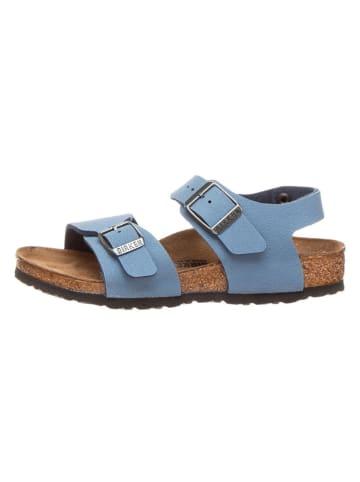 """Birkenstock Skórzane sandały """"New York"""" w kolorze niebieskim"""