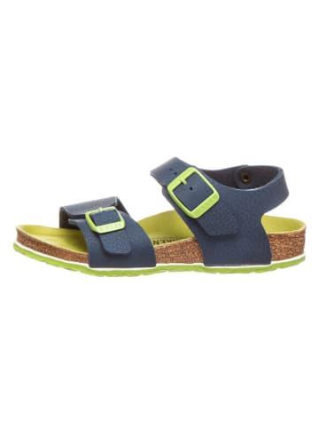 """Birkenstock Sandalen """"New York"""" blauw/groen - wijdte S"""