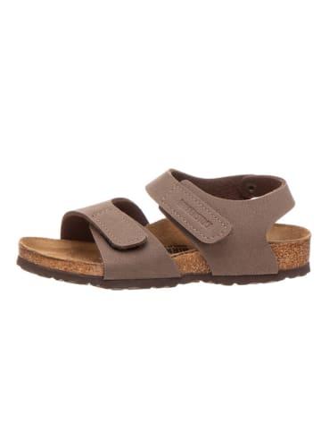 """Birkenstock Leren sandalen """"Palu"""" bruin - wijdte S"""