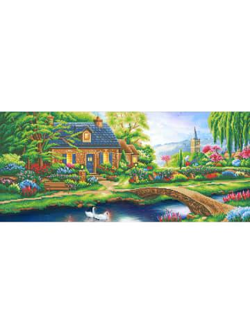 "DIY Crystal Art Kit Kristallkunst-Set ""Stoney Creek Cottage"" - ab 6 Jahren"