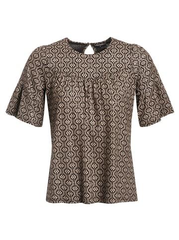 "Vive Maria Shirt ""Golden Twenties"" taupe/zwart"