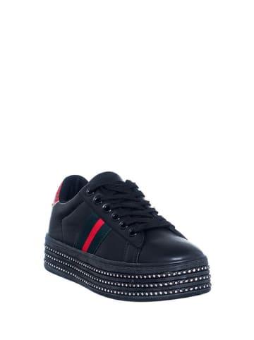 Loretta Sneakersy w kolorze czarno-czerwonym