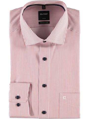 """OLYMP Koszula - """"Luxor"""" - Modern fit - w kolorze biało-czerwonym"""