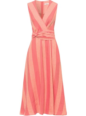 RIANI Lniana sukienka w kolorze czerwono-pomarańczowym